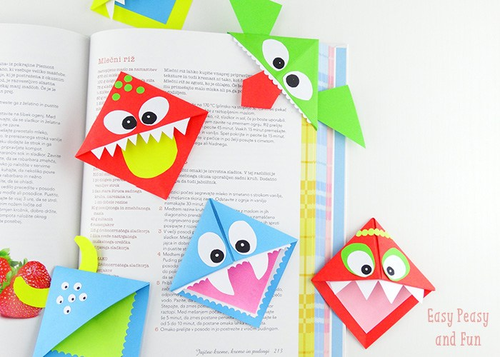 Amazing Bookmark Craft Ideas For Kids Part - 13: ... Easy And Non Messy DIY Craft Ideas For Kids Image Source:  Www.easypeasyandfun.com Donu0027t Forget To Follow Us On Facebook, Twitter,  Pinterest, ...